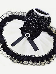 cheap -Dog Dress Dog Clothes Crystal / Rhinestone Chiffon Cotton Costume For Spring &  Fall Summer Men's Women's Casual / Daily