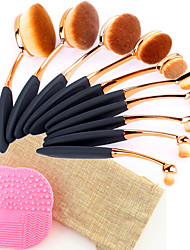 cheap -Professional Makeup Brushes Makeup Brush Set 10pcs Professional Fashion Synthetic Hair Rose Gold Plated Makeup Brushes for Eyeliner Brush Blush Brush Foundation Brush Lip Brush Eyebrow Brush
