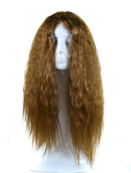 cheap -Cosplay Costume Wig Synthetic Wig Curly Asymmetrical Wig Blonde Medium Length Long Brown Synthetic Hair Women's Natural Hairline Blonde