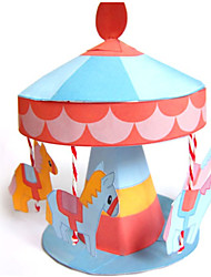 cheap -3D Puzzle Paper Model Model Building Kit Horse Carousel Merry Go Round DIY Classic Kid's Unisex Boys' Toy Gift