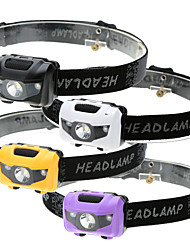 cheap -Headlamps Waterproof 500 lm LED LED Emitters 4 Mode Waterproof 3 Modes LED Light Easy to Carry Emergency Super Light Camping / Hiking / Caving Everyday Use Cycling / Bike Black White Purple