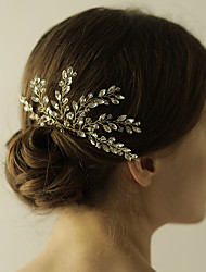 cheap -Rhinestone / Alloy Hair Combs / Flowers with 1 Wedding / Special Occasion / Anniversary Headpiece