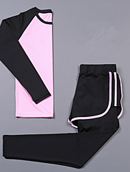 cheap -Women's 2-Piece Activewear Set Workout Outfits Athletic Long Sleeve 2pcs Spandex Cycling Quick Dry Camping & Hiking Yoga Fitness Gym Workout Pilates Exercise & Fitness Sportswear Tracksuit / Stretchy