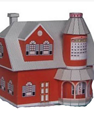 cheap -3D Puzzle Paper Model Model Building Kit House DIY Hard Card Paper Classic Cartoon Kid's Unisex Boys' Toy Gift