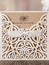 cheap -Wrap & Pocket Wedding Invitations 10 - Invitation Cards Classic Style Embossed Paper