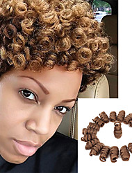 cheap -Braiding Hair Kenzie Curl Twist Braids Pre-loop Crochet Braids Curlkalon Hair 100% kanekalon hair Kanekalon 20 roots / pack Hair Braids Blonde Burgundy 10 inch 100% kanekalon hair
