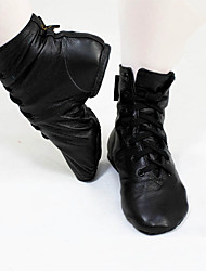 cheap -Women's Dance Shoes Synthetics Jazz Shoes Flat / Boots Flat Heel Customizable Black / Practice / EU39