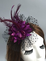 cheap -Net Fascinators / Hats / Headwear with Floral 1pc Wedding / Special Occasion / Party / Evening Headpiece