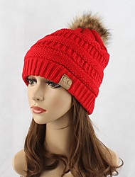 cheap -Women's Headwear Chic & Modern Knitwear Cotton Beanie / Slouchy Floppy Hat-Solid Colored Pure Color Fashion Fall Winter Red Navy Blue Gray / Cute