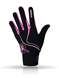 cheap -SPAKCT Winter Bike Gloves / Cycling Gloves Mountain Bike MTB Thermal / Warm Lightweight Breathable Anti-Slip Full Finger Gloves Sports Gloves Fleece Black / Pink Black / Blue for Adults' Outdoor