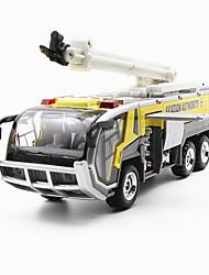Недорогие -1:32 Пожарная машина Игрушечные грузовики и строительная техника Игрушечные машинки Модель авто моделирование Детские Игрушки на солнечных батареях