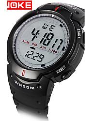 cheap -Men's Sport Watch Military Watch Smartwatch Quartz Digital Silicone Multi-Colored 30 m Water Resistant / Waterproof Alarm Calendar / date / day Digital Charm Classic Vintage Casual Bangle - Black Gray