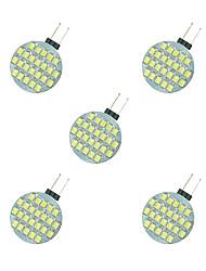 cheap -5pcs 2.5 W LED Bi-pin Lights 189 lm G4 24 LED Beads SMD 2835 Warm White White 12 V / 5 pcs