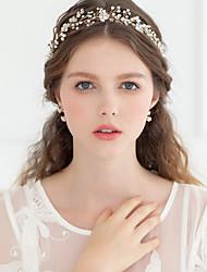 cheap -Crystal / Imitation Pearl / Rhinestone Tiaras / Headbands / Flowers with 1 Wedding / Special Occasion / Anniversary Headpiece