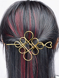 cheap -Europe and the United States foreign trade euro contracted joker hair accessories Hollow metal Chinese knot hair half arm type A0331-0332