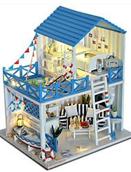 abordables -Maison de Poupées Sets Jouet Cuisine Jeu de Rôle A Faire Soi-Même Meuble Maison Plastique En bois Classique Unisexe Jouet Cadeau