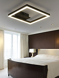cheap -1-Light 40 cm Bulb Included Flush Mount Lights Metal Acrylic Linear Painted Finishes Chic & Modern 110-120V / 220-240V