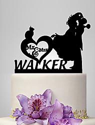 cheap -Cake Topper Classic Theme / Romance / Wedding Classic Couple Plastic Wedding / Anniversary with 1 pcs Poly Bag