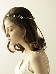 cheap -Gemstone & Crystal / Tulle / Rhinestone Headbands / Flowers / Headpiece with Crystal / Feather 1 Wedding / Special Occasion / Anniversary Headpiece