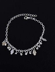 cheap -Women's Girls' Barefoot Sandals Vintage Punk Rock Gothic Fashion Anklet Jewelry Gold / Silver For Christmas Wedding Party New Baby Training Party Evening / Daily / Casual / Sports