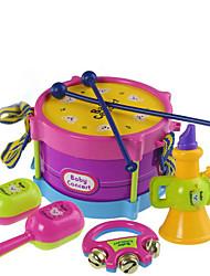 Недорогие -Барабанная установка Аксессуары для кукольного домика Обучающая игрушка Барабанная установка Пластик для Детские