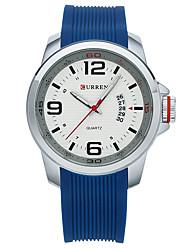 cheap -Men's Sport Watch Smartwatch Wrist Watch Quartz Silicone Multi-Colored 30 m Water Resistant / Waterproof Calendar / date / day Creative Analog Ladies Charm Classic Fashion Dress Watch - Black Orange