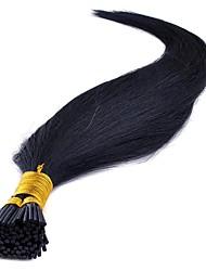Недорогие -Febay Fusion / с I-образным кончиком Расширения человеческих волос Классика Натуральные волосы Накладки из натуральных волос 1 комплект Жен. Черный