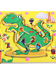 cheap -Chess Game Maze Magnetic Maze Dinosaur Magnetic Wooden Iron Kid's Toy Gift 1 pcs