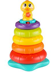 Недорогие -Конструкторы Игры с блоками Башни из деревянных блоков Веселье Пластик Детские Летние развлечения с детьми Классика
