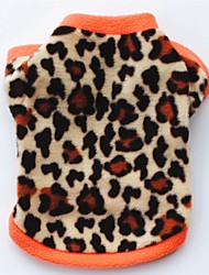 cheap -Cat Dog Coat Shirt / T-Shirt Sweatshirt Dog Clothes Party Casual/Daily Keep Warm Leopard Leopard Black