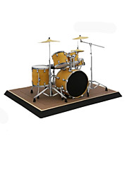 cheap -3D Puzzle Paper Model Model Building Kit Musical Instruments Drum Set DIY Furnishing Articles Simulation Hard Card Paper Classic Kid's Unisex Boys' Toy Gift