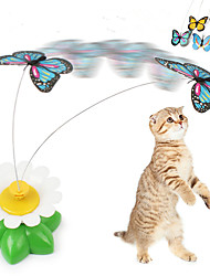 cheap -Cat Teasers Interactive Cat Toys Fun Cat Toys Cat Kitten Butterfly Plastic Gift Pet Toy Pet Play