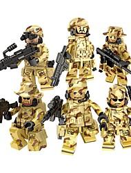 Недорогие -DILONG Конструкторы Военные блоки Фигурки из блоков 20-480 pcs Армия Soldier Война совместимый Legoing Игрушки Подарок / Обучающая игрушка