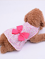 cheap -Dog Dress Bowknot Casual / Daily Dog Clothes Puppy Clothes Dog Outfits Purple Blue Pink Costume Baby Small Dog for Girl and Boy Dog Fabric XS S M L XL