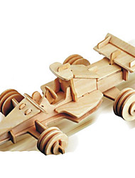 cheap -3D Puzzle Metal Puzzle Model Building Kit Car DIY Natural Wood Classic Unisex Toy Gift