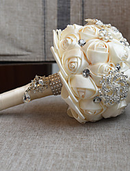 "cheap -Wedding Flowers Bouquets Wedding Bead / Lace / Silk 10.63""(Approx.27cm)"