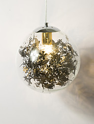 cheap -1-Light 20 cm Mini Style Pendant Light Metal Glass Electroplated Modern Contemporary 110-120V / 220-240V