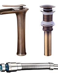 cheap -Bathroom Sink Faucet - Standard Antique Copper Centerset Single Handle One HoleBath Taps