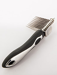 cheap -Cat Dog Grooming Health Care Cleaning Alloy Comb Anti-Slip Pet Grooming Supplies Black