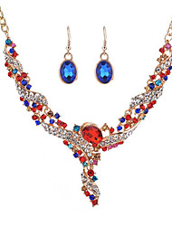 cheap -Women's Synthetic Diamond Bridal Jewelry Sets Rings Set Ladies Fashion Earrings Jewelry White / Red / Blue For Wedding Event / Party Dailywear