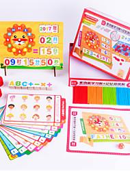 Недорогие -Конструкторы Игрушки для обучения математике Обучающая игрушка Экологичные Веселье Детские Подарок Классика