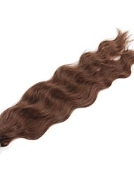 cheap -Fusion / U Tip Human Hair Extensions Curly Natural Wave Human Hair Human Hair Extensions Women's Chestnut Brown