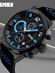 cheap -Men's Sport Watch Military Watch Smartwatch Quartz Digital Genuine Leather Multi-Colored 50 m Calendar / date / day Creative Cool Analog - Digital Charm Classic Casual Fashion Dress Watch - Yellow