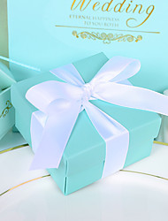 cheap -Cubic Card Paper Favor Holder with Ribbons Favor Boxes / Favor Bags / Favor Tins and Pails - 12