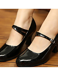 cheap -Women's Modern Shoes / Ballroom Shoes Patent Leather / PU Heel Dance Shoes Black / Gold / Red / Practice