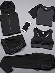 cheap -Women's 2-Piece Spandex Workout Set Activewear Set Yoga Suit 2pcs Yoga Running Pilates Cycling Camping & Hiking Fitness, Running & Yoga Sportswear Shorts Bottoms Long Sleeve Activewear Stretchy