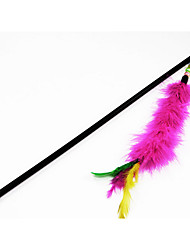 cheap -Teaser Feather Toy Interactive Toy Interactive Cat Toys Fun Cat Toys Cat 1 Piece Fun Plastic Gift Pet Toy Pet Play