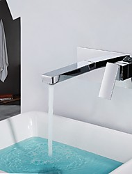 cheap -Bathroom Sink Faucet - Widespread Chrome Widespread Single Handle Two Holes
