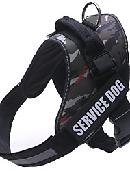 cheap -Dog Harness Coat Harness Dog Clothes Camouflage Color Light Blue Black Costume Large Dog Nylon Letter & Number Sports S