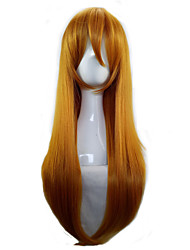 cheap -Synthetic Wig Cosplay Wig Straight Straight Wig Blonde Long Orange Synthetic Hair Women's Blonde hairjoy